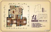 香樟源4室2厅2卫166平方米户型图