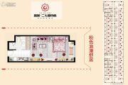 鑫苑二七鑫中心0室1厅1卫39--49平方米户型图