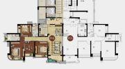雅居乐剑桥郡4室2厅2卫147平方米户型图