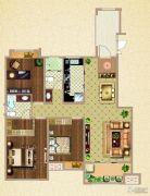 荣盛鹭岛荣府3室2厅2卫125平方米户型图