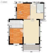 凤泉花园C区2室2厅1卫73平方米户型图