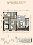金尚俊园3室2厅2卫112平方米户型图
