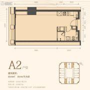 利是达星际广场1室1厅1卫55平方米户型图