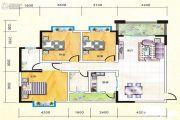 宏瑞新城3室2厅2卫131平方米户型图