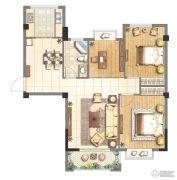 赞城3室2厅1卫88平方米户型图