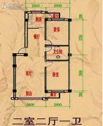 阳光彼岸2室2厅1卫0平方米户型图