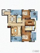 虹锦湾3室2厅1卫133平方米户型图