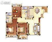 滨江国际城3室2厅2卫109平方米户型图