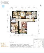 满堂悦MOMΛ3室2厅1卫94平方米户型图