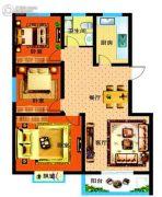 漯北新城3室2厅1卫108平方米户型图