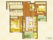 朗诗绿色街区2室2厅1卫81平方米户型图