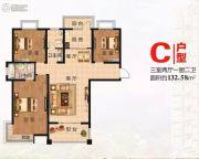 大唐凤凰府3室2厅2卫0平方米户型图
