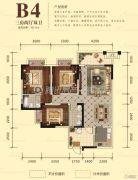 宏升物华天宝五期3室2厅2卫110平方米户型图