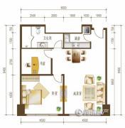 勒泰中心2室2厅1卫0平方米户型图
