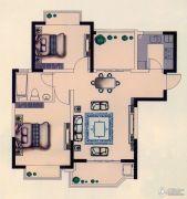 世纪城金域华府3室2厅1卫90平方米户型图