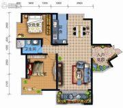 天地之间广福郡2室2厅1卫89平方米户型图