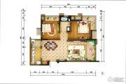 重庆巴南万达广场2室2厅1卫86平方米户型图