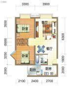 龙郡2室2厅1卫73平方米户型图