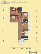 瑞海尚都3室2厅2卫116平方米户型图