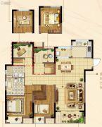 佳兆业君汇上品4室2厅2卫115平方米户型图