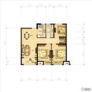 林立欣园3室2厅1卫89平方米户型图