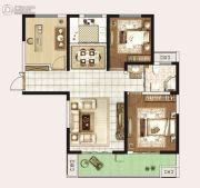 永威城3室2厅1卫109平方米户型图