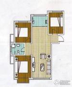 福林小区3室1厅1卫83平方米户型图