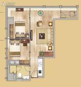 中鼎君和名城二期名汇2室1厅1卫85平方米户型图