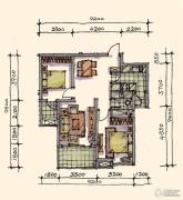 宝安江南城2室2厅1卫88平方米户型图