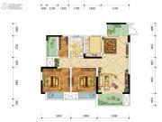 金融街融景城2室2厅1卫68平方米户型图