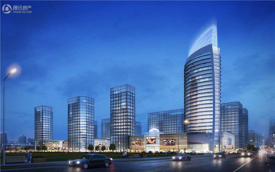 中豪襄阳国际商贸城CBD夜景效果图