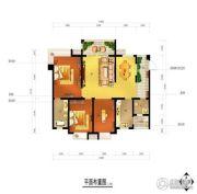 江南中央花园3室2厅2卫109平方米户型图