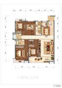 金泰华府4室2厅2卫166平方米户型图