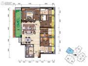 碧桂园・翡翠郡(肇庆大旺)4室2厅2卫114平方米户型图