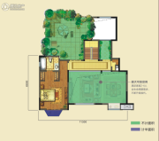 龙湖香醍西岸3室3厅3卫170平方米户型图