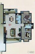 花都艺墅3室2厅2卫162平方米户型图