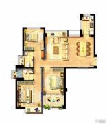 西海岸广场3室1厅2卫98平方米户型图