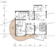滨海・幸福里3室2厅2卫130平方米户型图