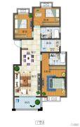 富源尚城3室2厅2卫110平方米户型图