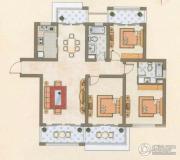 天安花园3室2厅2卫140平方米户型图