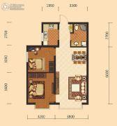 伊水湾2室2厅1卫84平方米户型图