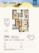 三盛・国际海岸3室2厅1卫0平方米户型图