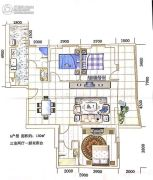 海源财富中心3室2厅2卫129--130平方米户型图