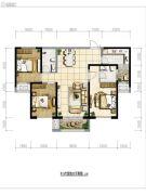 保利・拉菲公馆3室2厅1卫124平方米户型图
