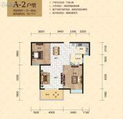 南湖・玫瑰湾2室2厅1卫88平方米户型图
