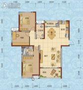 兰天一村3室2厅2卫128--138平方米户型图