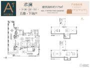 鲁能泰山7号院4室2厅3卫175平方米户型图