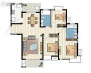 新加坡尚锦城3室2厅2卫138平方米户型图