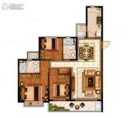 恒大悦珑湾3室2厅2卫134平方米户型图