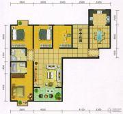 郧阳国际园4室2厅2卫156平方米户型图